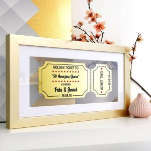 Personalised Golden Anniversary Framed Ticket